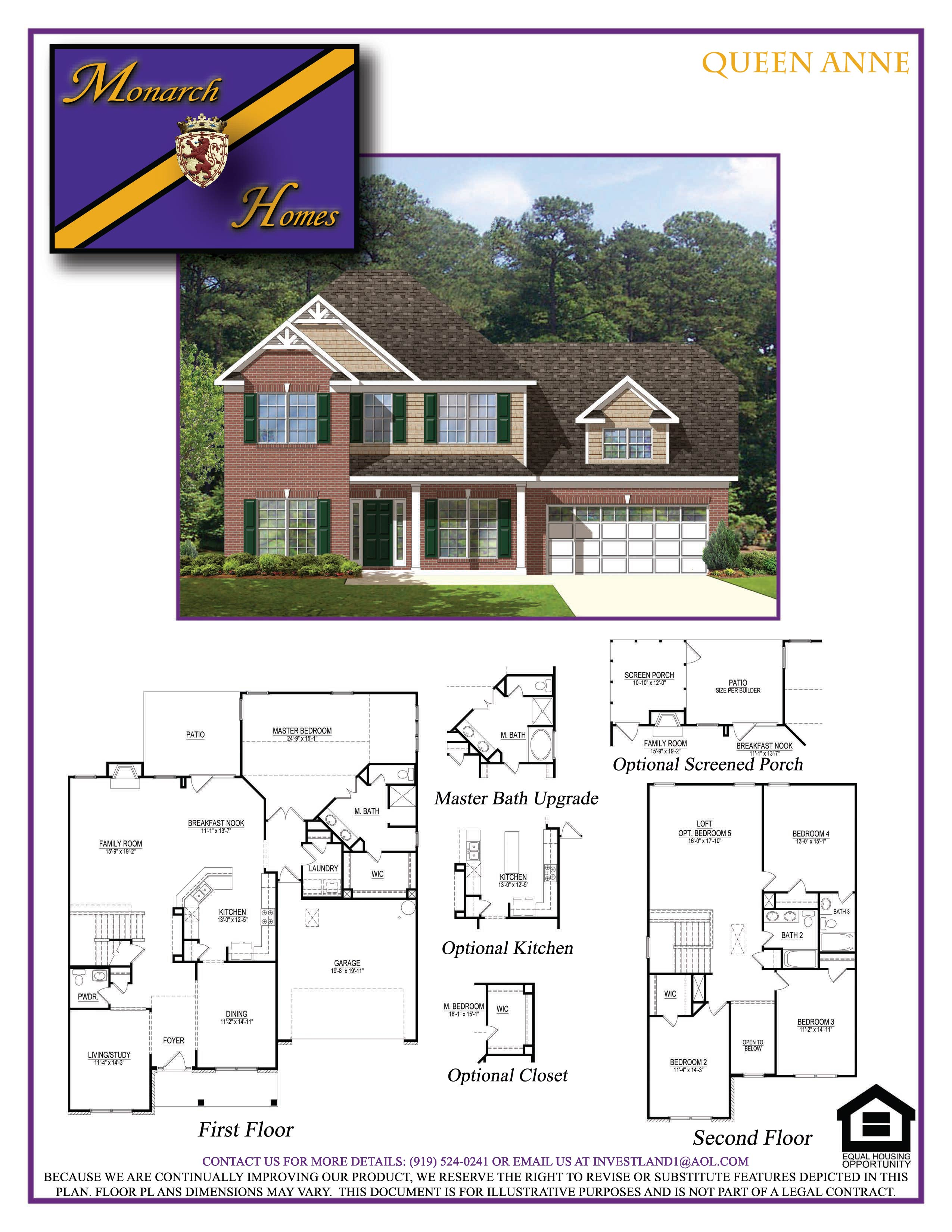 Queen anne monarch homes of north carolina for Queen anne floor plans