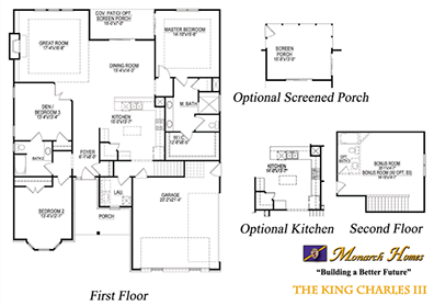 King charles iii monarch homes of north carolina Monarch homes floor plans