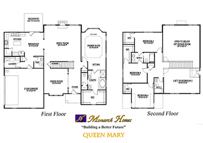 Queen mary floor plan monarch homes of north carolina Monarch homes floor plans